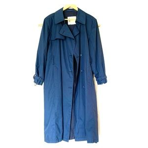 London Fog Full Length Navy Trench Coat